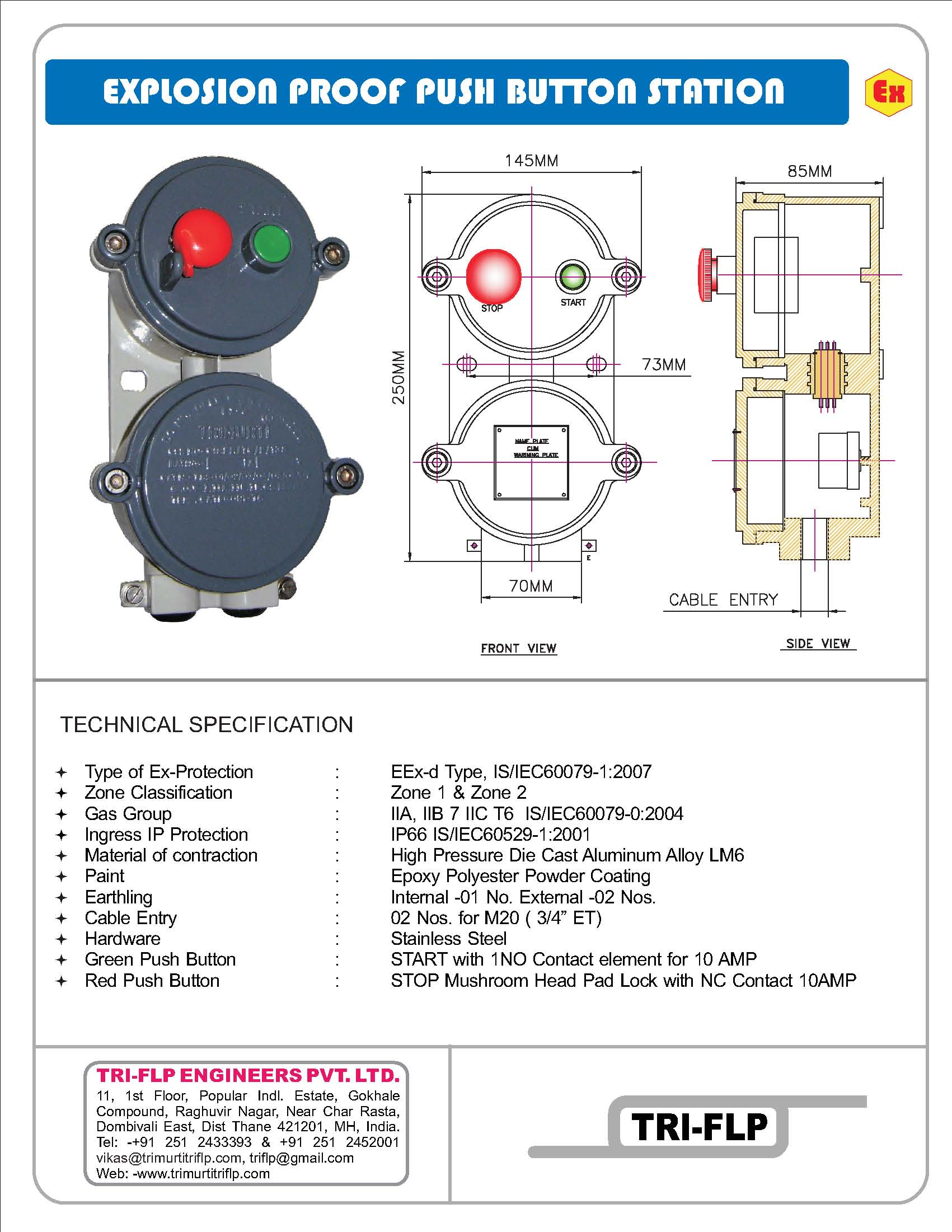Explosion Proof Push Button Station - manufacturers