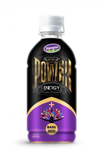 PET Bottle Energy Drink Power Energy Drink With Basil Seed Flavour