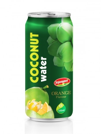 Coconut Water With Orange Flavour Aluminium Can