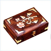 Copper Brass Overlaid Jewellery Boxes