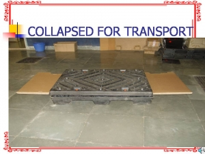 Corrugated Boxes Collapsed for Transport