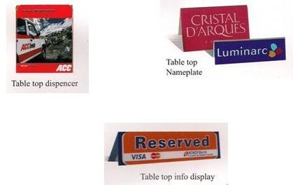Table Top Dispenser Table Top Name Plate Table Top Info Display