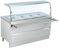 Bain Marie Service Counter with Tray Slide (Sheet) and Over Head Shelf