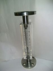 Acrylic Body Rotameter in Flange Connection for 0-10 LPM